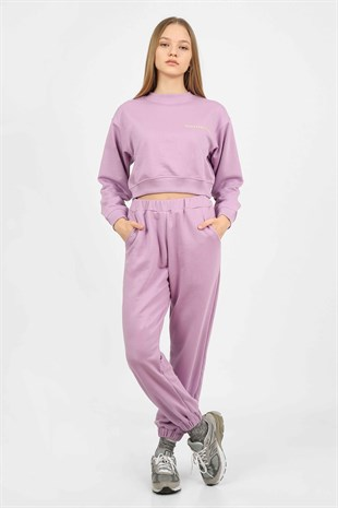 Sunday Brunch Lilac Short Tracksuit