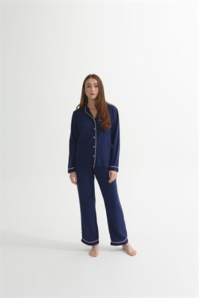 Timeless dark blue pyjama set
